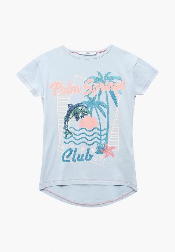 футболка с коротким рукавом marks & spencer для девочки, голубая