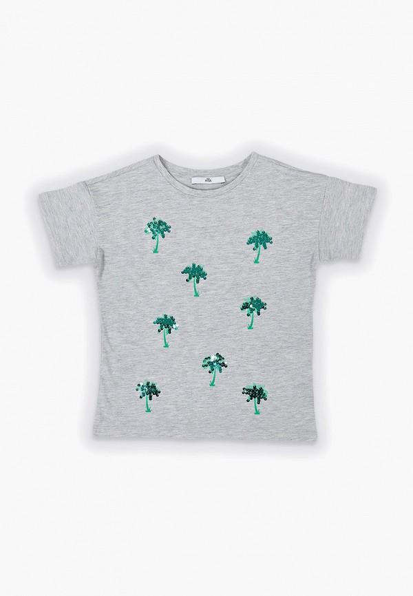 футболка с коротким рукавом marks & spencer для девочки, серая