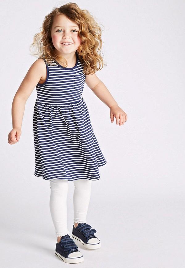 Фото 2 - Платье Marks & Spencer синего цвета