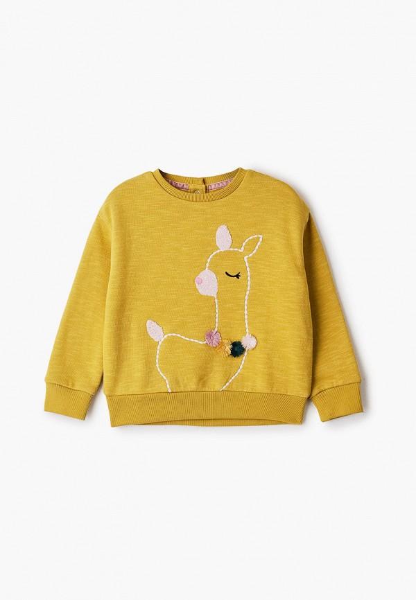 свитшот marks & spencer для девочки, желтый