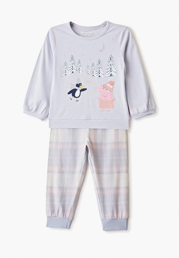 пижама marks & spencer для девочки, голубая