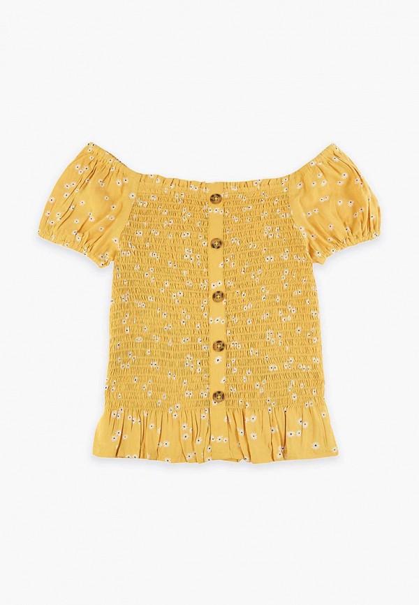 блузка marks & spencer для девочки, желтая