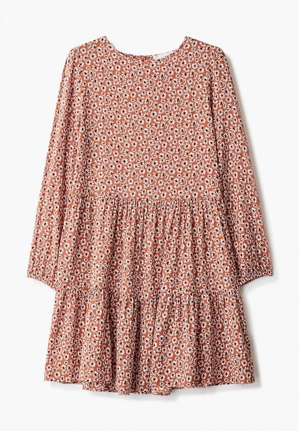 повседневные платье marks & spencer для девочки, коричневое