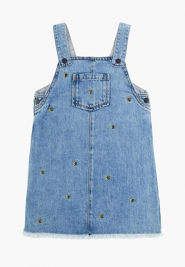 повседневные платье marks & spencer для девочки, синее