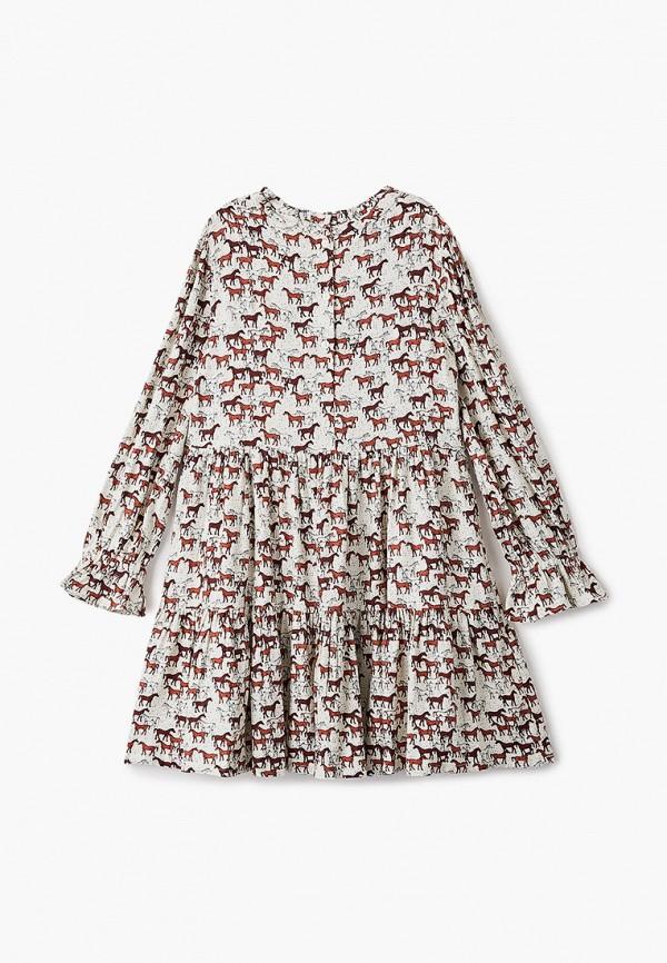 повседневные платье marks & spencer для девочки, бежевое