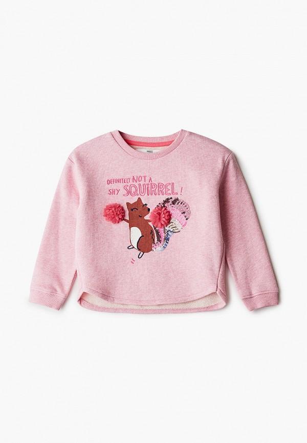свитшот marks & spencer для девочки, розовый