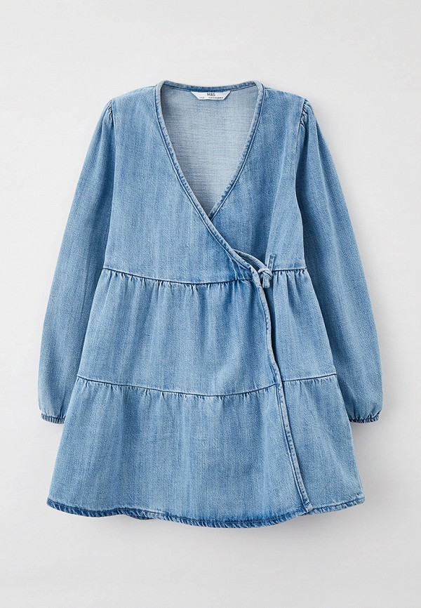 джинсовые платье marks & spencer для девочки, голубое