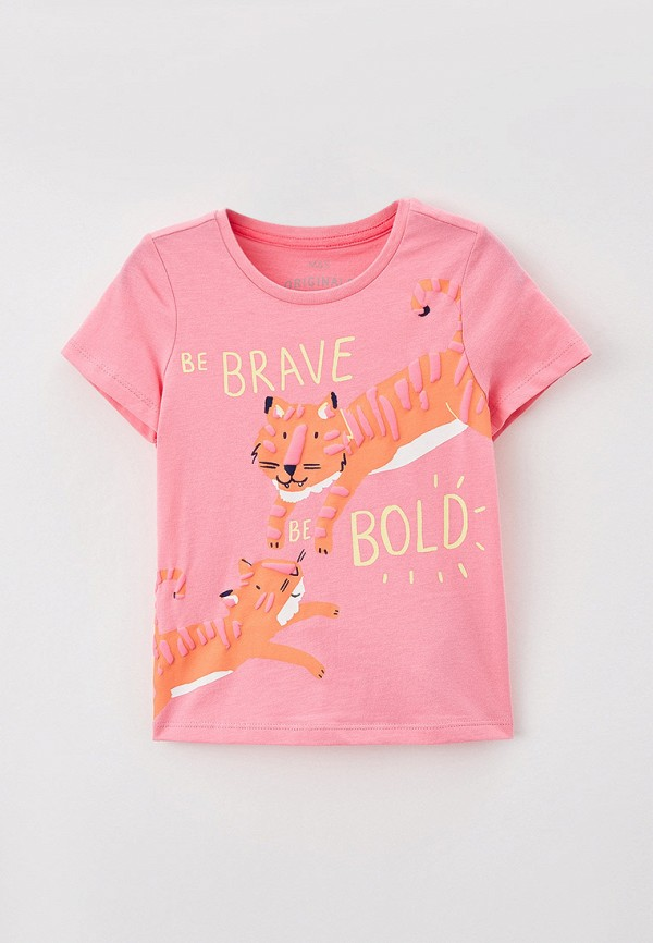 футболка с коротким рукавом marks & spencer для девочки, розовая