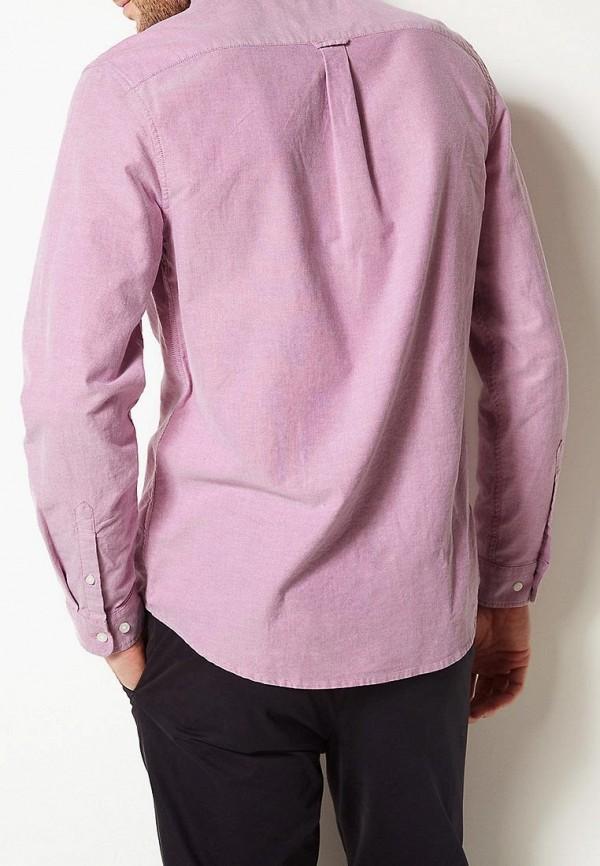 Фото 2 - Рубашку Marks & Spencer розового цвета