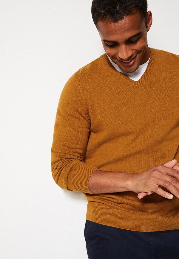 мужской пуловер marks & spencer, желтый