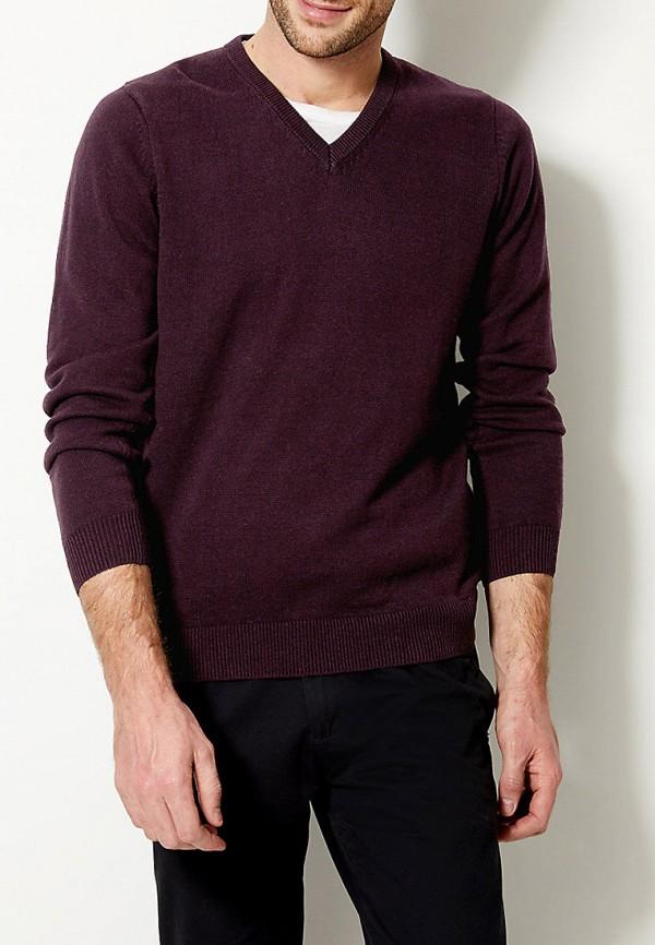 мужской пуловер marks & spencer, бордовый