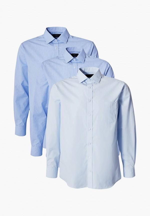мужская рубашка с длинным рукавом marks & spencer, голубая