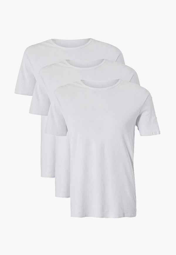 мужская футболка с коротким рукавом marks & spencer, белая