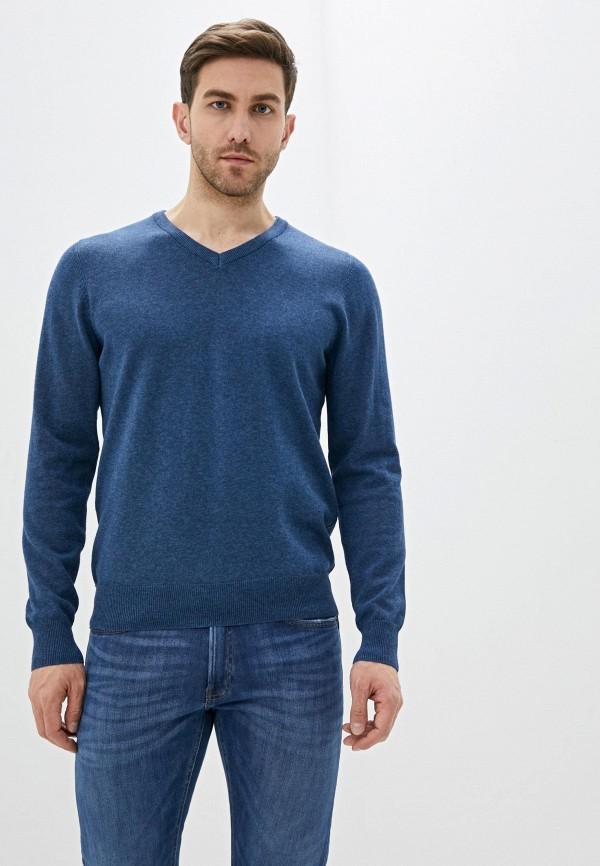 мужской пуловер marks & spencer, синий