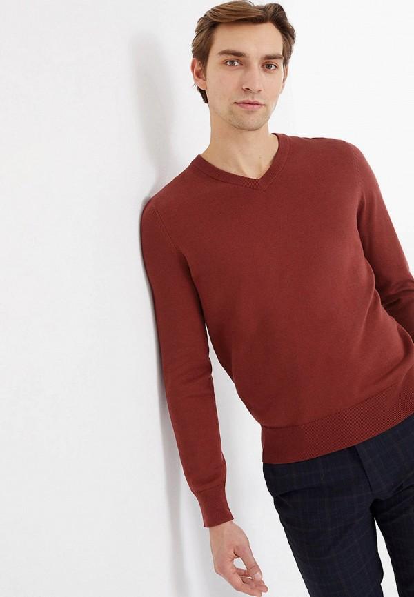 мужской пуловер marks & spencer, коричневый