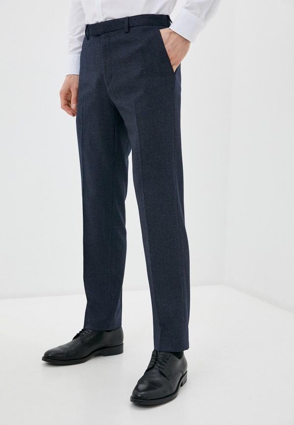 мужские зауженные брюки marks & spencer, синие