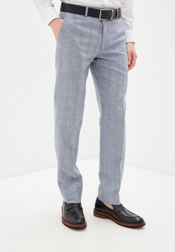 мужские классические брюки marks & spencer, голубые