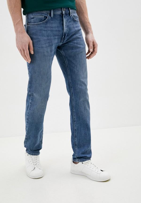 мужские зауженные джинсы marks & spencer, голубые