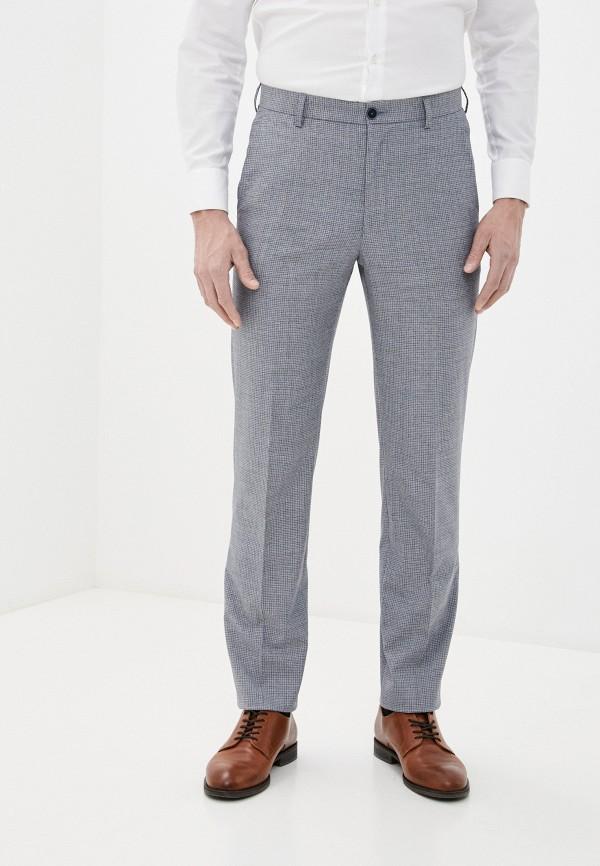 мужские зауженные брюки marks & spencer, голубые