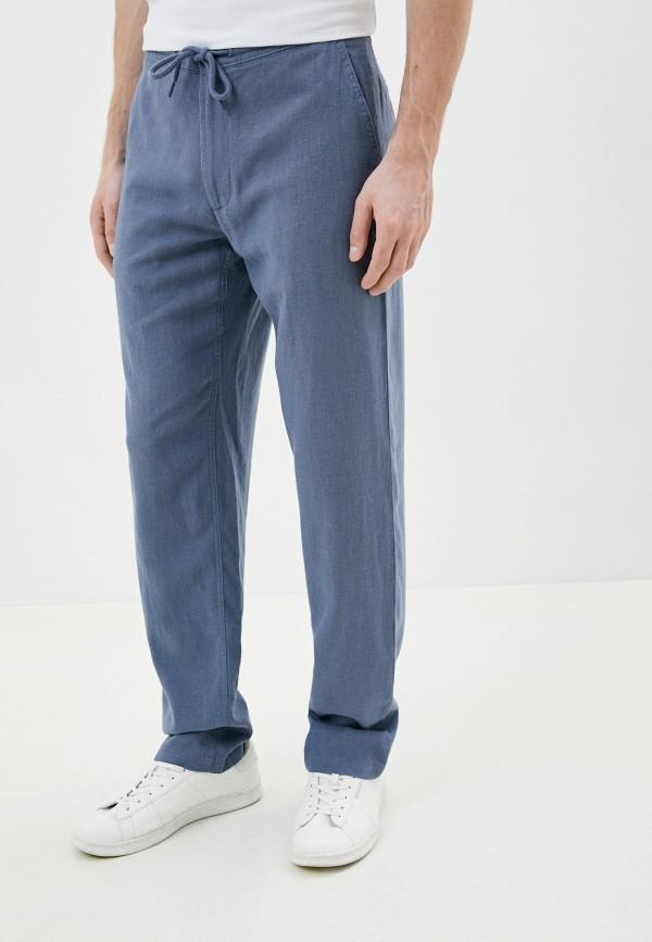 мужские повседневные брюки marks & spencer, голубые