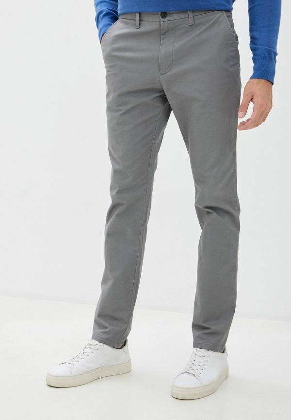 мужские зауженные брюки marks & spencer, серые