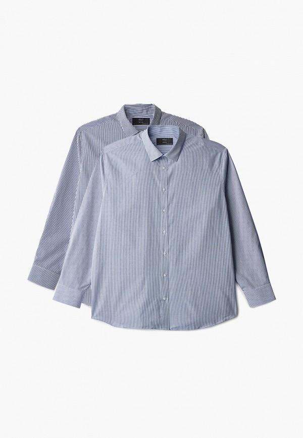 мужская рубашка с длинным рукавом marks & spencer, разноцветная