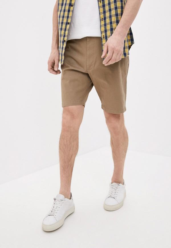 мужские повседневные шорты marks & spencer, бежевые