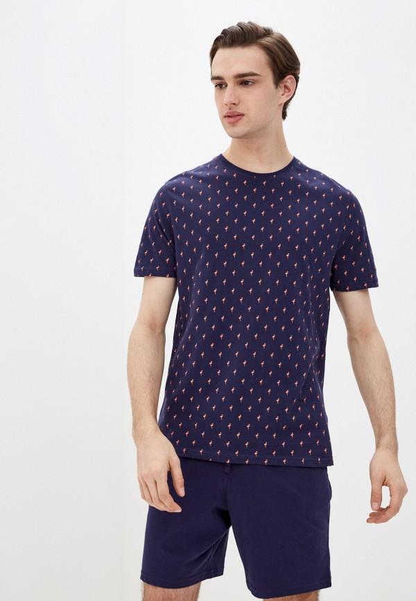 мужская пижама marks & spencer, синяя
