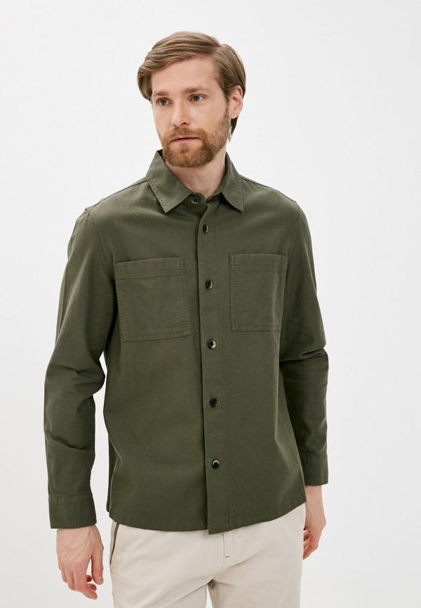 мужская джинсовые рубашка marks & spencer, хаки