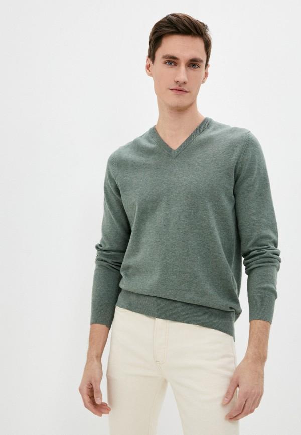 мужской пуловер marks & spencer, зеленый