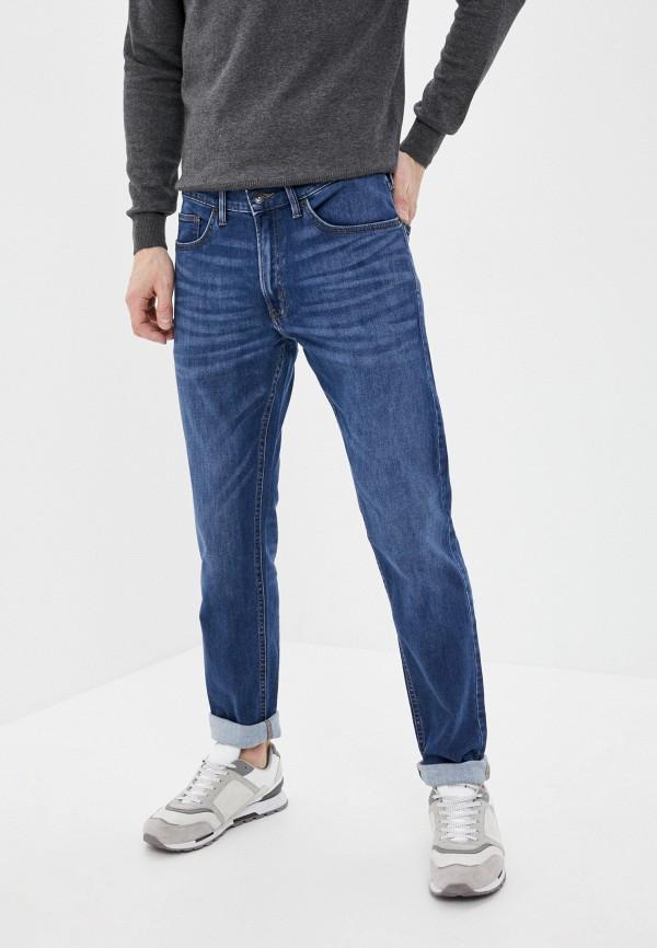 мужские зауженные джинсы marks & spencer, синие