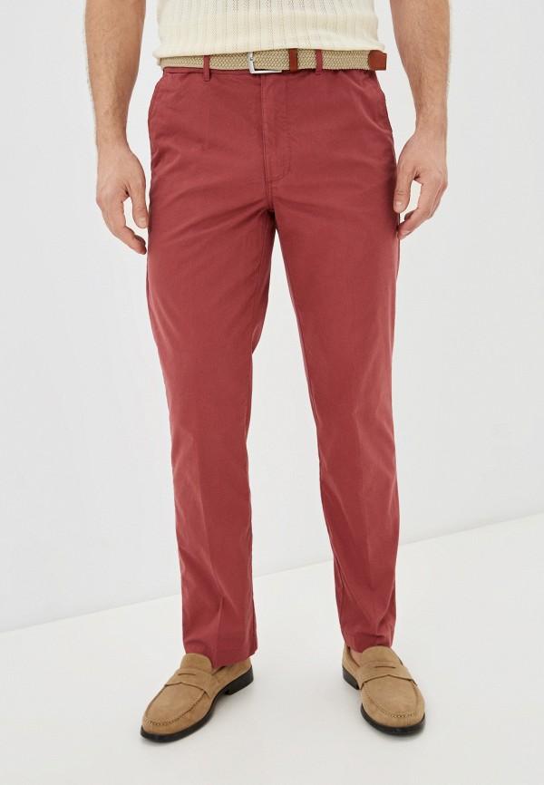 мужские брюки чинос marks & spencer, розовые