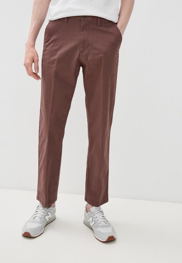мужские брюки чинос marks & spencer, коричневые