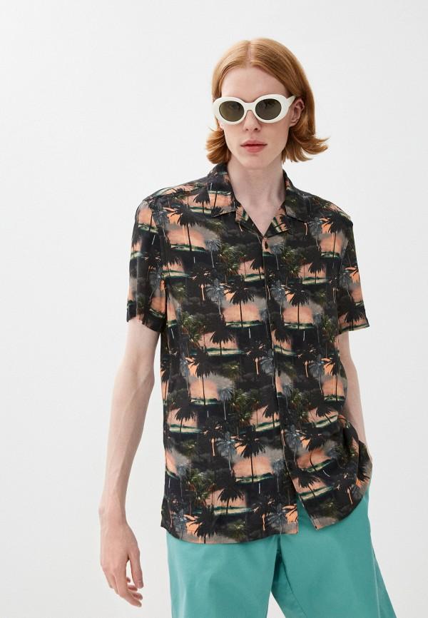 мужская рубашка с коротким рукавом marks & spencer, разноцветная