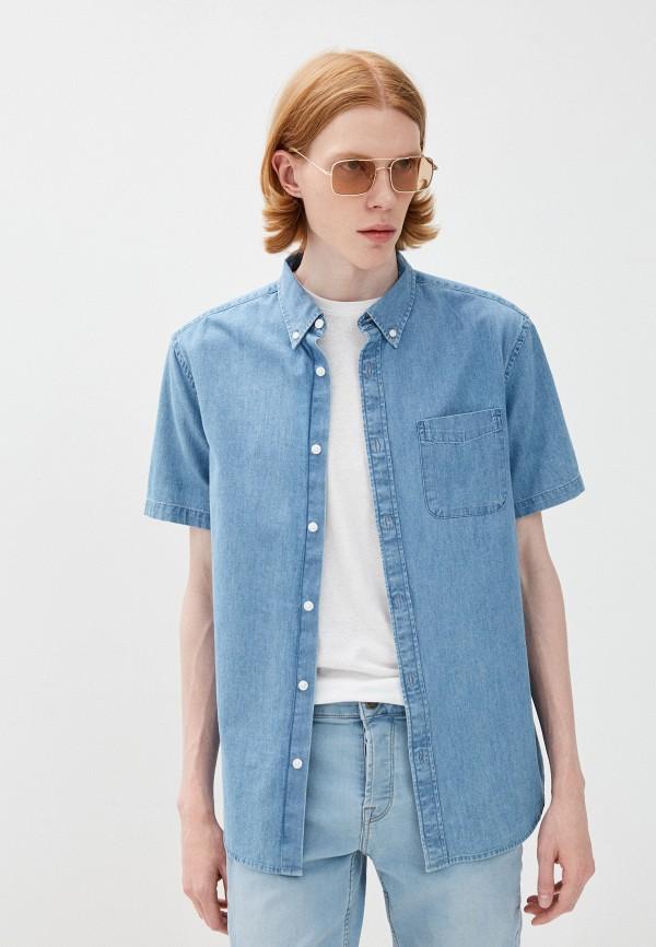 мужская джинсовые рубашка marks & spencer, голубая