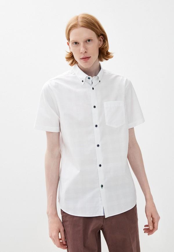 мужская рубашка с коротким рукавом marks & spencer, белая