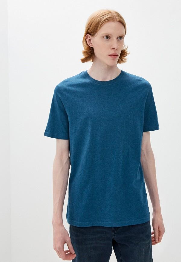 мужская футболка с коротким рукавом marks & spencer, синяя