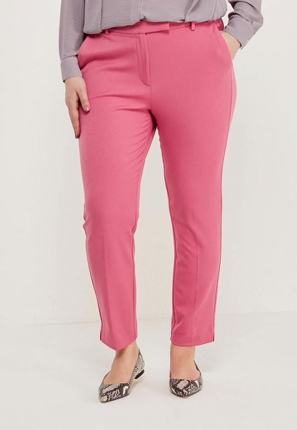 женские зауженные брюки marks & spencer, розовые