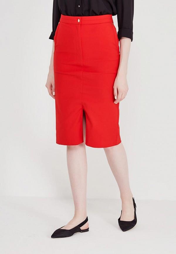 женская прямые юбка marks & spencer, красная