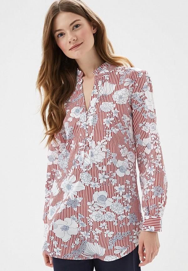 женская блузка marks & spencer, красная