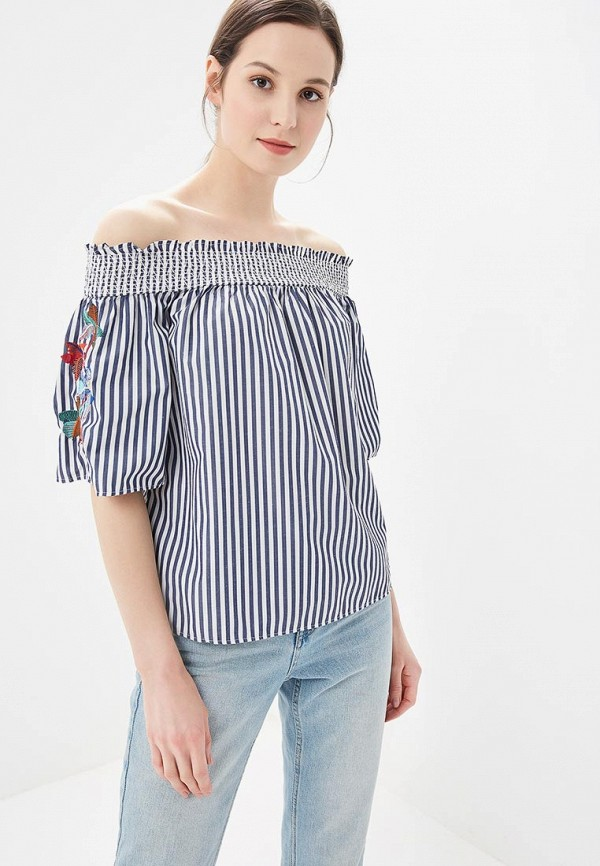 Купить Блуза Marks & Spencer, MA178EWBKYV2, синий, Весна-лето 2018