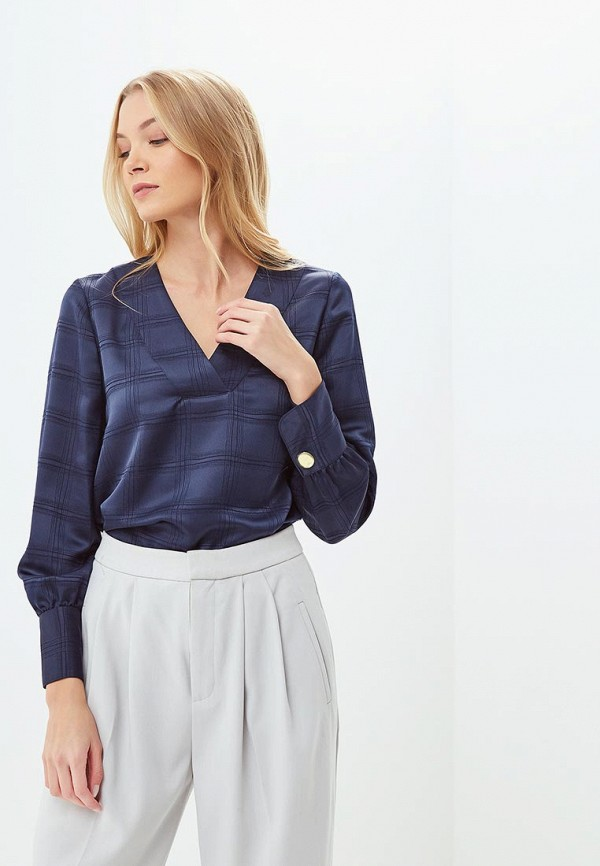 Купить Блуза Marks & Spencer, ma178ewclyo4, синий, Осень-зима 2018/2019