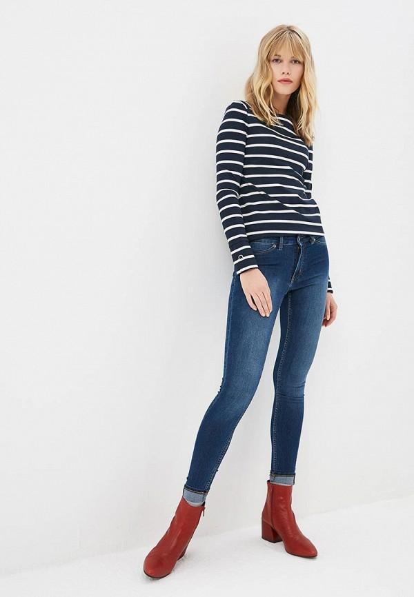 Фото 2 - Лонгслив Marks & Spencer синего цвета