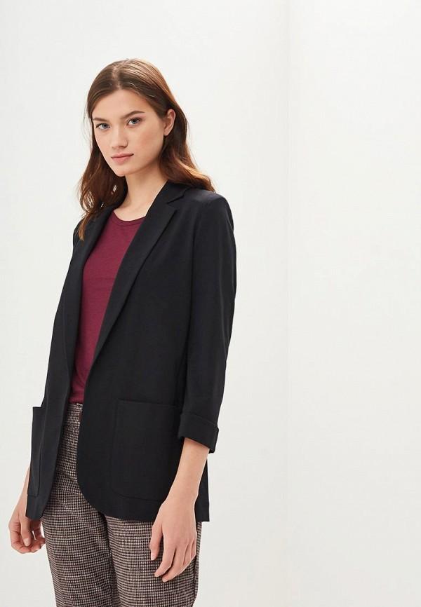 женский пиджак marks & spencer, черный