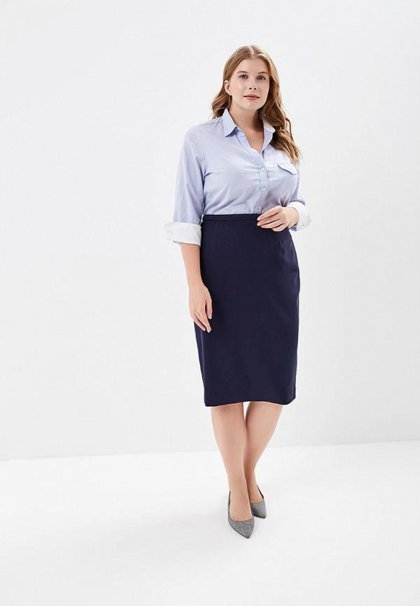 Фото 2 - Юбку Marks & Spencer синего цвета