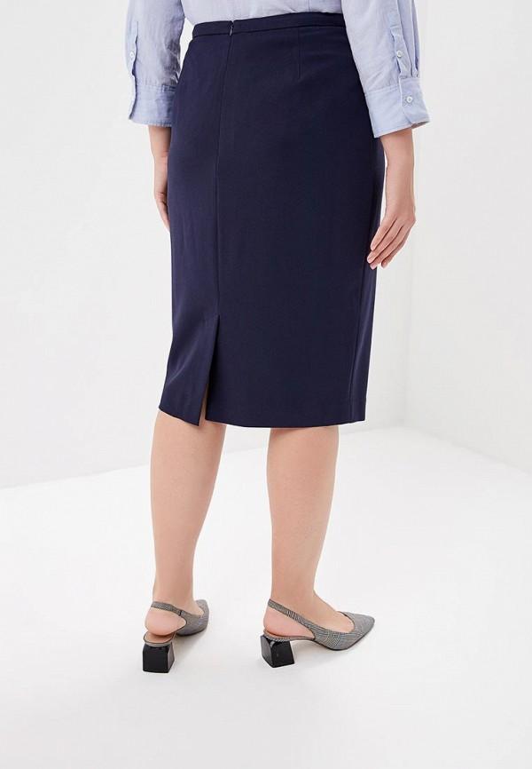 Фото 3 - Юбку Marks & Spencer синего цвета
