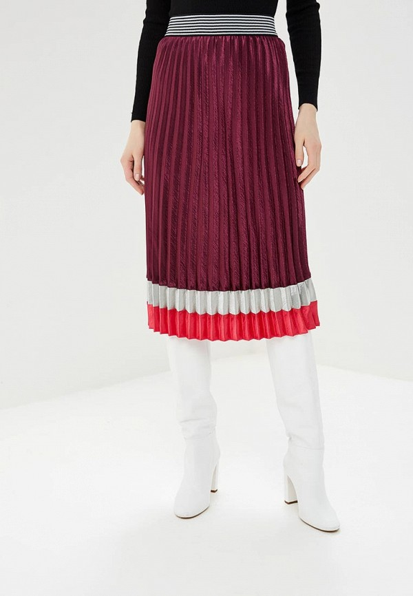 женская юбка marks & spencer, фиолетовая