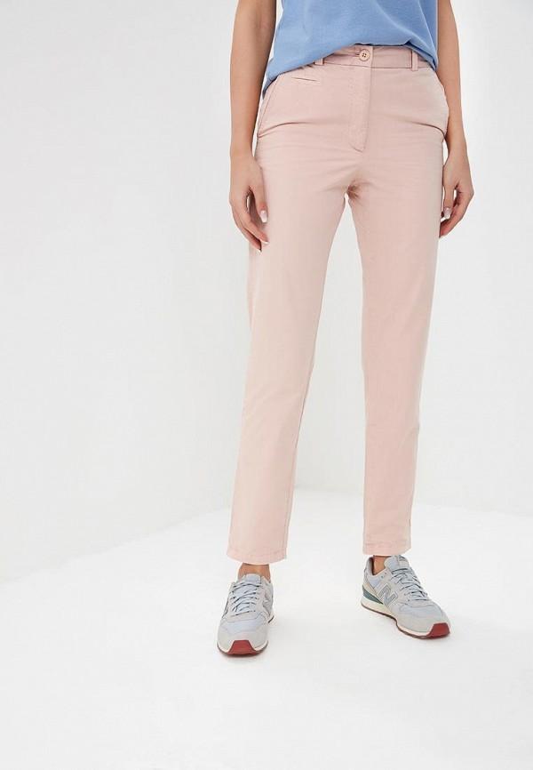 женские повседневные брюки marks & spencer, розовые