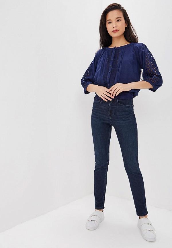 Фото 2 - Джинсы Marks & Spencer синего цвета