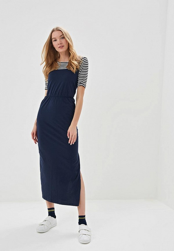 женское повседневные платье marks & spencer, синее